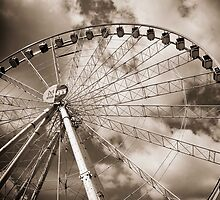 black and white Manchester eye by Paul Jarrett