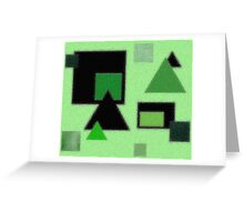 Triangle Squares Greeting Card