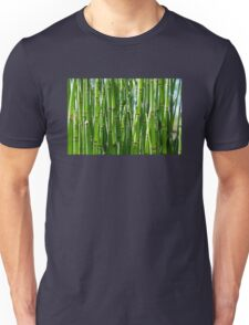 Green bamboo background Unisex T-Shirt