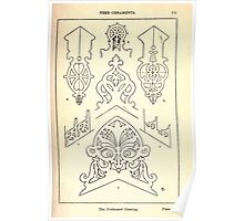 A Handbook Of Ornament With Three Hundred Plates Franz Sales Meyer 1896 0187 Free Ornaments Perforated Cresting Poster
