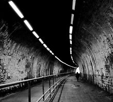 black and white tunnel by Paul Jarrett