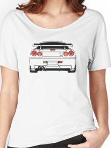 Nissan GTR R34 Black Women's Relaxed Fit T-Shirt