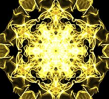 yellow hexagon on Black by HHarrabi