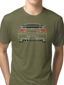 Nissan GTR R34 White Tri-blend T-Shirt