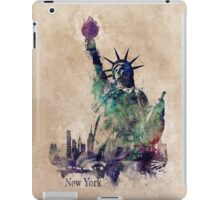 Statue of Liberty green art version iPad Case/Skin