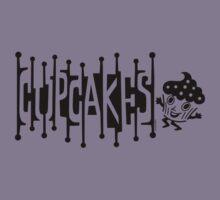 Retro Cupcakes - black Kids Clothes