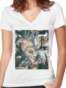 We don't sleep when the sun goes down.. Women's Fitted V-Neck T-Shirt