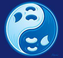 Ghost Yin Yang Symbol by fizzgig