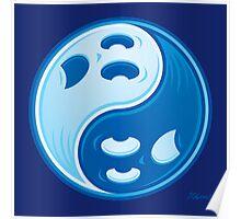 Ghost Yin Yang Symbol Poster