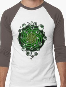 EMERALD PSY EYE by conor graham Ethereal C2010. Men's Baseball ¾ T-Shirt