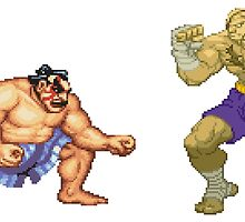 Street Fighter E.Honda vs. Sagat by ProjectMayhem