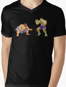 Street Fighter E.Honda vs. Sagat Mens V-Neck T-Shirt