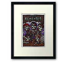 Dead and Buried Framed Print