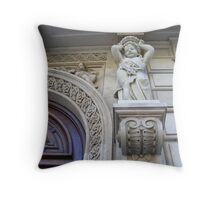 Detailed doorway - Barcelona Throw Pillow