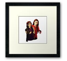 COFFEE Red Queen Framed Print
