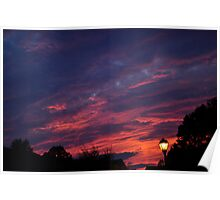Summer Sunset in the Suburbs Poster