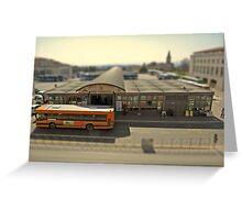 Piazza Partigiani, Perugia's bus station, Italy (a tilt-shift simulation) Greeting Card