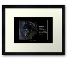 """Wilderness Wolf"" Framed Print"
