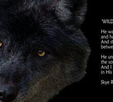 """""""Wilderness Wolf"""" Sticker"""