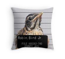 Jail Bird Throw Pillow
