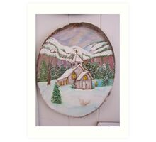 Country Church in Winter Art Print