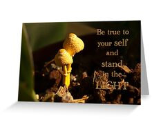 Be true to yourself... card  Greeting Card