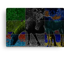 abstract horses Canvas Print