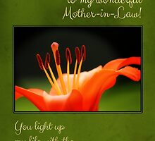Orange Lily Mother-in-Law Birthday Card by Tracy Friesen