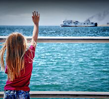 Waving them out of harbour.. by Tigersoul
