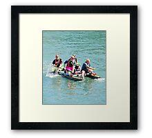 Big Boys on a Raft Framed Print
