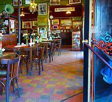 Vintage Cafe Interior in Caminito, Buenos Aires by Atanas Bozhikov Nasko
