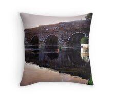 White Mill Bridge-Dorset Throw Pillow