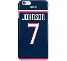 Columbus Blue Jackets Jack Johnson Jersey Back Phone Case iPhone Case/Skin