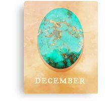 J. Sorensen - Watercolor Birthstone Gems, December Canvas Print