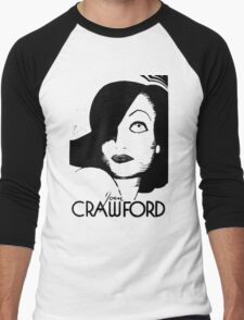 Joan Crawford Contrast Art Men's Baseball ¾ T-Shirt