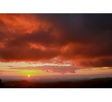 Red Sky Sunset Photographic Print