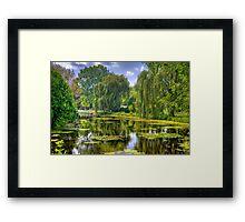 Lakeside Park Lagoon-3 Framed Print