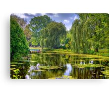 Lakeside Park Lagoon-3 Canvas Print