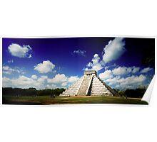 Mayan Pyramid at Chichen Itza, Mexico Poster