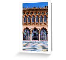 Ca' d'Zan Terrace, Sarasota Florida Greeting Card