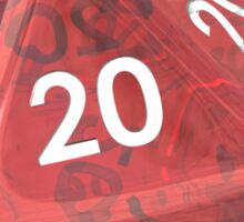 How we roll 20s Sticker