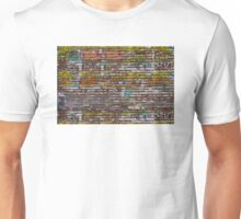 Scratched advertising Unisex T-Shirt