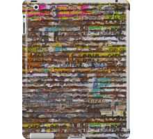 Scratched advertising iPad Case/Skin