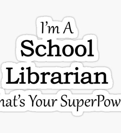 School Librarian Sticker