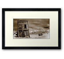 The last place in town Framed Print