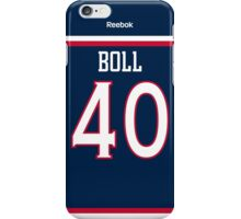 Columbus Blue Jackets Jared Boll Jersey Back Phone Case iPhone Case/Skin