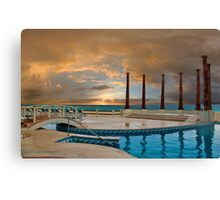Sunrise at the hotel Krystal. Cancun. Mexico Canvas Print
