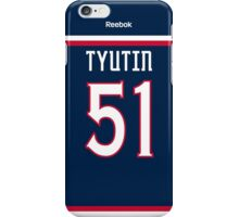 Columbus Blue Jackets Fedor Tyutin Jersey Back Phone Case iPhone Case/Skin