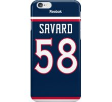 Columbus Blue Jackets David Savard Jersey Back Phone Case iPhone Case/Skin