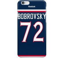 Columbus Blue Jackets Sergei Bobrovsky Jersey Back Phone Case iPhone Case/Skin